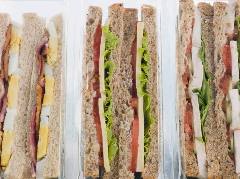emballage plastique pour sandwiches